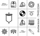ship icons. set of 13 editable... | Shutterstock .eps vector #794311264