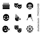 joy icons. set of 9 editable... | Shutterstock .eps vector #794311438
