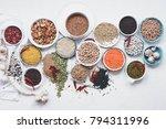 plant based diet ingredients... | Shutterstock . vector #794311996