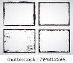 grunge frame set. vector... | Shutterstock .eps vector #794312269