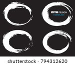 grunge post stamps collection ... | Shutterstock .eps vector #794312620