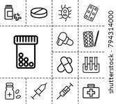 medication icons. set of 13... | Shutterstock .eps vector #794314000