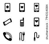 cellphone icons. set of 9...   Shutterstock .eps vector #794314084