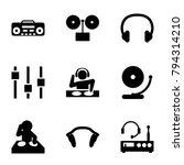 dj icons. set of 9 editable...   Shutterstock .eps vector #794314210