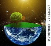 the day of the earth. elements... | Shutterstock . vector #794321374