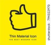 like thumb up hand drawn symbol ...