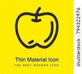 apple hand drawn fruit outline...   Shutterstock .eps vector #794322976