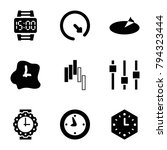 dial icons. set of 9 editable... | Shutterstock .eps vector #794323444