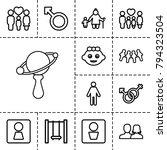 boy icons. set of 13 editable... | Shutterstock .eps vector #794323504