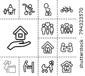 mother icons. set of 13... | Shutterstock .eps vector #794323570