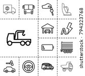 auto icons. set of 13 editable... | Shutterstock .eps vector #794323768