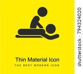 massage session bright yellow...