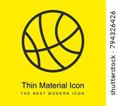 basketball bright yellow...