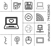 computer icons. set of 13... | Shutterstock .eps vector #794328040