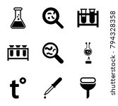 laboratory icons. set of 9... | Shutterstock .eps vector #794328358