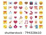 vector set cute kawaii saint... | Shutterstock .eps vector #794328610