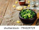 garlic parmesan roasted... | Shutterstock . vector #794329729