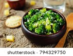 garlic parmesan roasted... | Shutterstock . vector #794329750