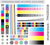 cmyk press print marks and... | Shutterstock .eps vector #794330338