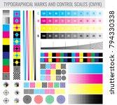 cmyk press print marks and... | Shutterstock .eps vector #794330338