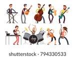 rock n roll music band vector...   Shutterstock .eps vector #794330533