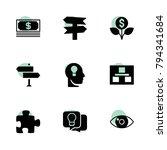 idea icons. vector collection...