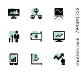 chart icons. vector collection...