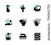 bathroom icons. vector...