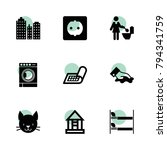 home icons. vector collection...