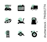 auto icons. vector collection...