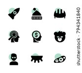 head icons. vector collection...