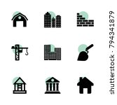 structure icons. vector...
