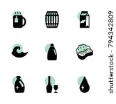 liquid icons. vector collection ...