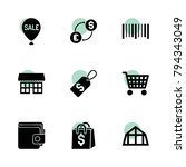 sale icons. vector collection... | Shutterstock .eps vector #794343049