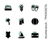 vacation icons. vector...