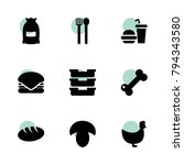 meal icons. vector collection...