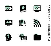 data icons. vector collection...
