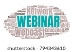 webinar or web conference word... | Shutterstock .eps vector #794343610