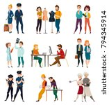 different professions set of... | Shutterstock .eps vector #794345914