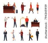 hotel staff set of flat... | Shutterstock .eps vector #794345959