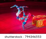performance of acrobats in the... | Shutterstock . vector #794346553