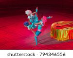 performance of acrobats in the... | Shutterstock . vector #794346556