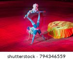 performance of acrobats in the... | Shutterstock . vector #794346559