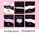 set of trendy chic valentine's... | Shutterstock .eps vector #794346910