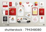 mockup set of pizza cafe... | Shutterstock .eps vector #794348080