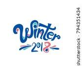 winter 2018. vector inscription....   Shutterstock .eps vector #794351434