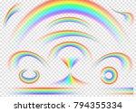 rainbow set isolated on... | Shutterstock .eps vector #794355334