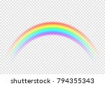 rainbow with limpid section... | Shutterstock .eps vector #794355343