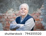 portrait of active senior man... | Shutterstock . vector #794355520