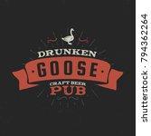 vintage craft beer pub label.... | Shutterstock .eps vector #794362264